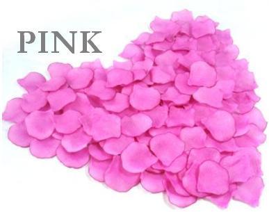Wedding Flowers Heart Silk Pink Colour Petals x 200pcs