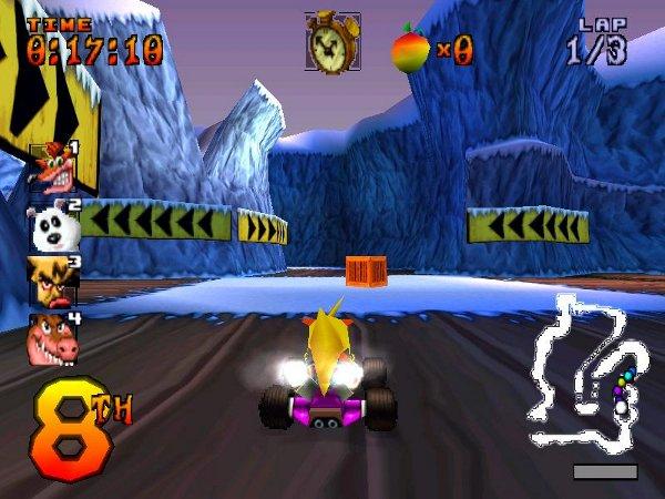 اللعبة الرائعة Crash Racing