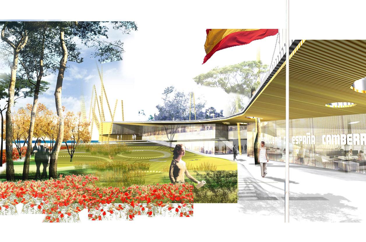 Residencia del Embajador de España en Camberra - Mateo Arquitectura, arquitectura, casas, renders