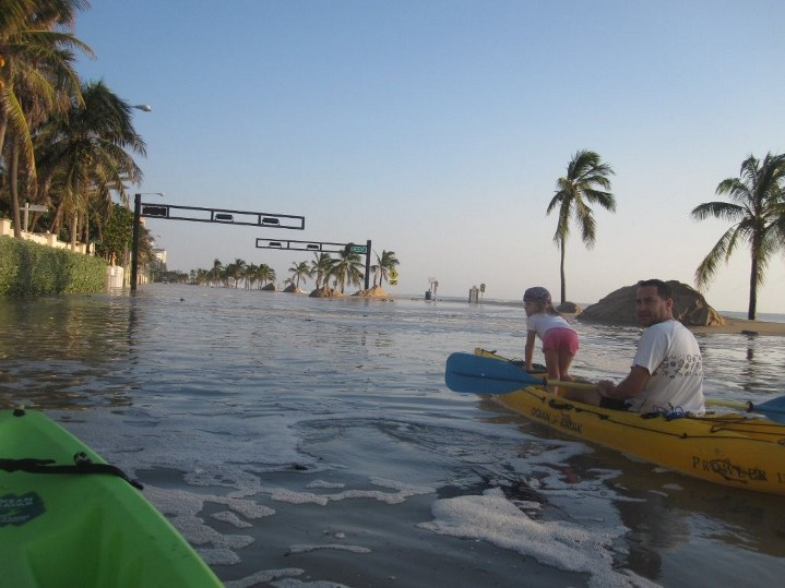 Hurricane Sandy, A1A under water.